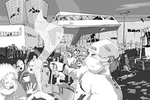 Stephanie Brittnacher · Comic für die IG Metall Jugend